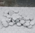 Pflastersteine Hexagonal grau hell