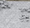 Pflastersteine Hexagonal grau dunkel