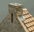 ROOF TILES HOLLOW BRICKS OLD RED