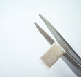 2. remove excess edge material. Attention, do not cut too much!