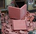 Wandteile Ziegelsteine rot