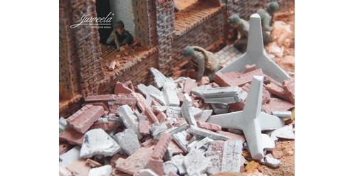 Panzersperre für Diorama