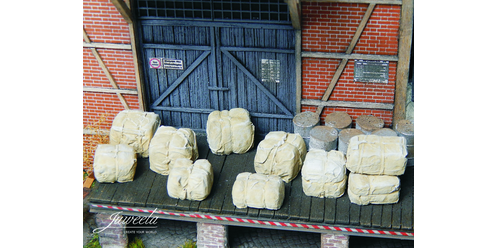 bales of raw material