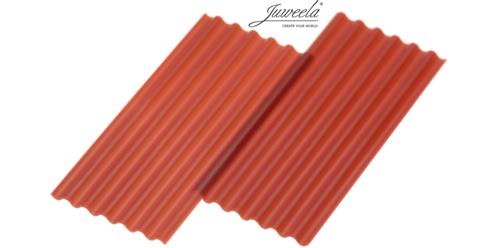Wellplatten Faserzement rot
